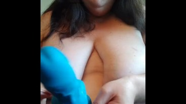 MILF introduces her dildo and pleasures herself for you