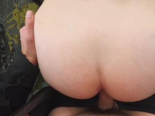 Big ass blonde girl Sex on Public Beach, ASMR Wave