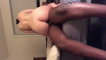 Fat ass bouncing on dick