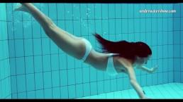 Hungarian teen Szilva underwater naked