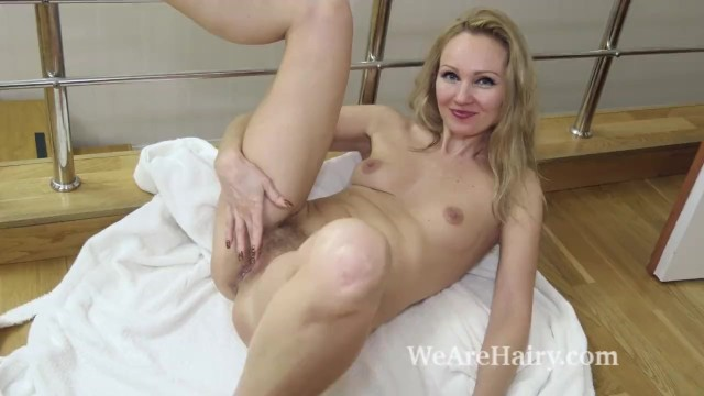 Foxy masturbate - Foxy masturbates after sliding off her white robe