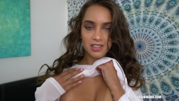 Uma Jolie finally gives me the pussy and lets me cum inside her