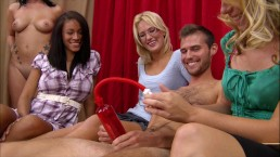 BRANDI BELLE – Small Dick Guy Gets His Penis Pumped At A CFNM Gathering