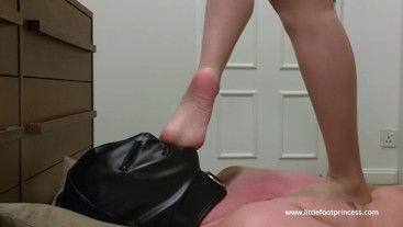 Face Trampling Slave with Nylons | Little Foot Princess