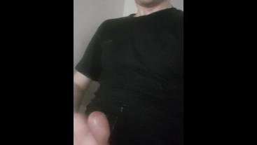 Russian boy wank in toilet and cum