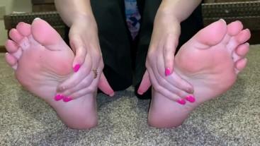 Stinky sweaty sticky soles after work
