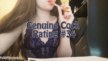 Genuine Cock Rating #34 | FullOfFantasiesOnline.com