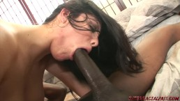 Sexy Lorena finds a BBC is to her liking! She devours it like she's starvin