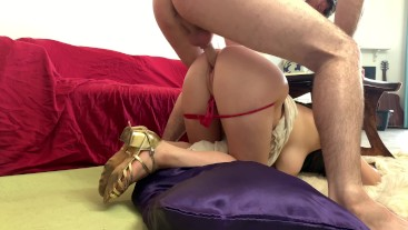 Nagging stepmom wants stepson to clean but gets stuck and fucked instead