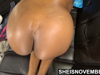 Oiled Big Butt Asshole Played With By Old Step Dad Rubbing Black Daughter