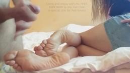 Feet addiction, footjob, cum soles, Fan Club Astrid Blum