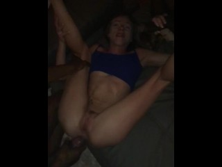 I get fucked by 2 BBC while my husband recording-I\u2019m a Big Black Slut !!