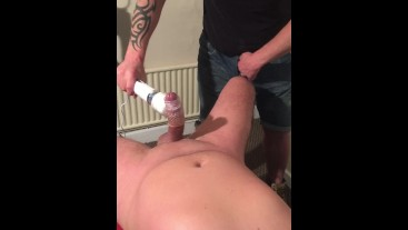 Big Dicked lad used in the Playroom