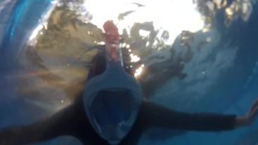 Underwater Easybreath Snorkel Dive Test with Neopren