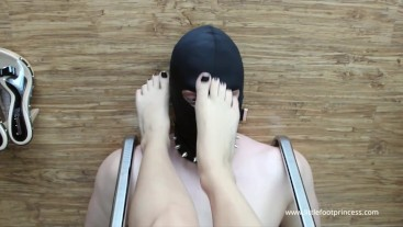 Slave Under Princess Feet - Worship and Domination | Little Foot Princess