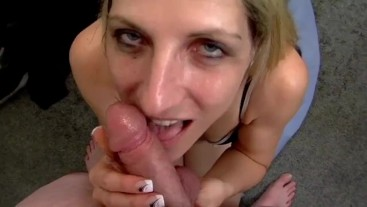 She Smiles While Sucking His Cock
