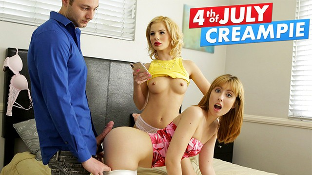 Step Sisters Go After Daddy's Friend And Get Creamed This 4th Of July S8:E6