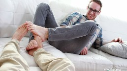 My Older Step Brother Seduced Me Into Ass Fucking Him By Playing Footsies
