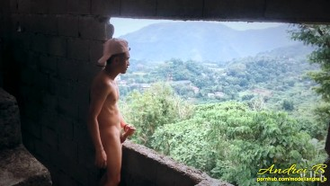 Jerking Offf & Cumming in an Open & Abandoned Building Beside the Highway