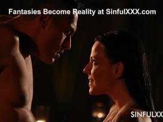 Seductive Simony Diamond Dives Into Passion