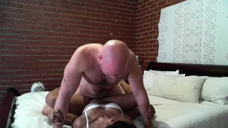 Step-dad-catches-stepdaughter-humping-teddy-bear-and-fucks-her-SiaBigSexy