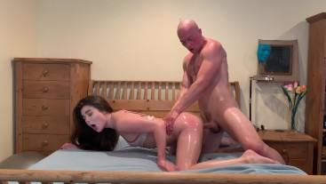 Lubed up and fucked hard by a stranger