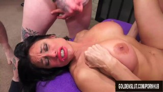 Demonstration Turns into a Gangbang for Mature Lube Saleswoman Sheila Marie