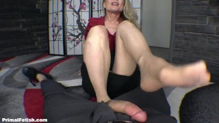 Cock Hungry Office Cougar In Nylons - Nina Hartley