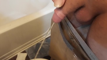 Step dad Pissing