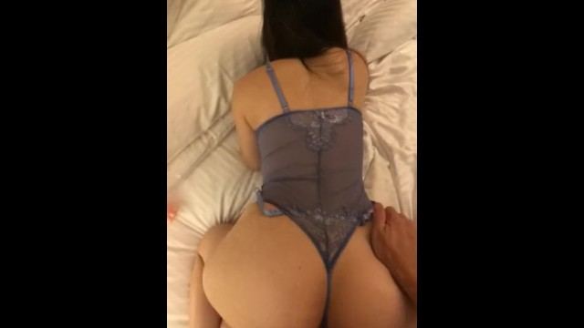 Asian with ass Fuck curvy wife sexy lingerie