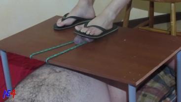 a little cbt using flip flops and feet