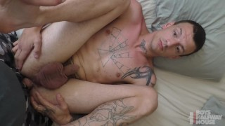 Inked Straight Rough Trade Takes Daddy's Cock For A Place To Stay