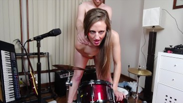 Rock Out with your Cock Out: Amateur Couple Music, Fucking, and Facial