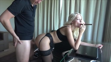 Sexy secretary got fucked by boss Blowjob cumshot