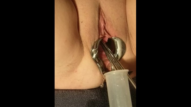 Female Medical Play - Speculum Stretched Pussy Urethral Peehole Stretching