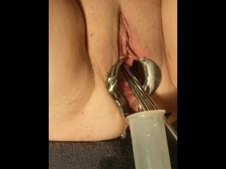 Stretched Play Female video: Female Medical Play - Speculum Stretched Pussy Urethral Peehole Stretching