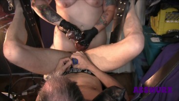 POV Of Tattooed Milf Pegging His Ass With Huge Strapon