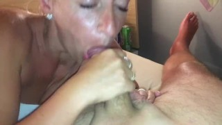 Hot sloppy blowjob with swallowing cum on holidays in Italy MUST SEE!!!