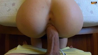 HORNY COUPLE POV SEX AT HOME DOGGYSTYLE REVERSE COWGIRL AND HUGE CUMSHOT
