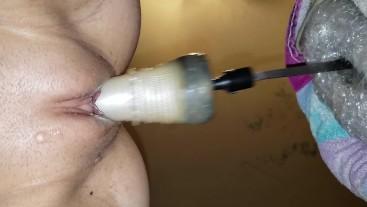 My pussy cumming a lot on a really fast machine!! Cum watch me!enjoy