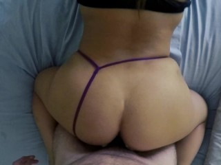 Thick Amateur Teen Latina GF with a BIG ASS fucked Doggystyle POV