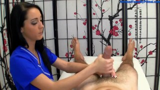 Hot Masseuse Builds Up To 4 Cum Blasts Happy Ending