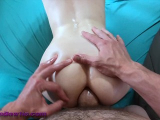 POV with tiny White Girl ANAL CREAMPIE