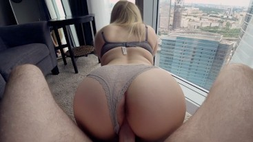 Young schoolgirl fucks in the apartment