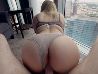 Young schoolgirl fucks in the apartment