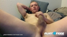Jesse Powers on Flirt4Free - Boy Next Door Twink Fingers His Ass and Cums