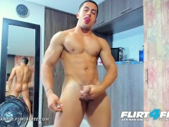Dante Santos on Flirt4Free - Muscle Worship and Ass Play with Latino Stud