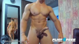 Dante Santos on Flirt4Free - Hot Latino w Big Curved Cock and Big Muscles