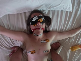 POV Our Salute To Pornhub Tied Down Girl Gets Fucked Doggystyle
