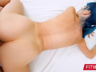 FIT18 – Jewelz Blu – 50kg – Casting Blue Hair Girl With Perfect Pussy